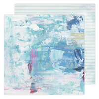 Heidi Swapp - Art Walk Collection - 12 x 12 Double Sided Paper - Blues