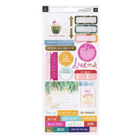 Heidi Swapp - Art Walk Collection - 6 x 12 Cardstock Stickers with Foil Accents