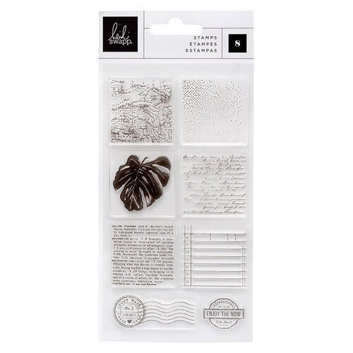 Heidi Swapp - Art Walk Collection - Clear Acrylic Stamps