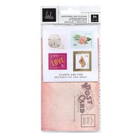 Heidi Swapp - Art Walk Collection - Postcards and Stamp Stickers with Foil Accents