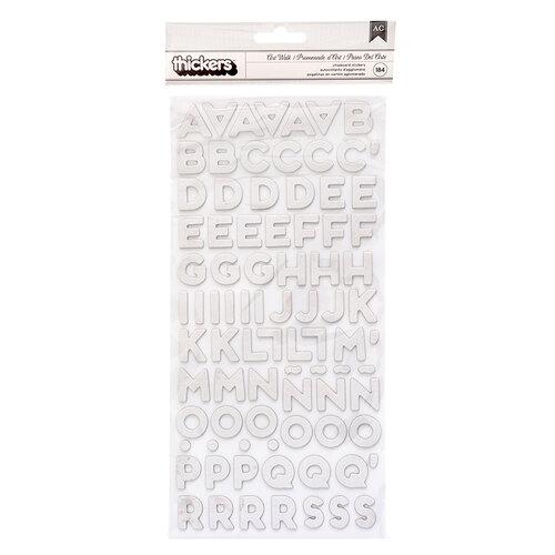 Heidi Swapp - Art Walk Collection - Thickers - Alpha - Chipboard
