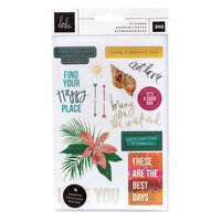 Heidi Swapp - Art Walk Collection - Small Cardstock Sticker Pack with Foil Accents