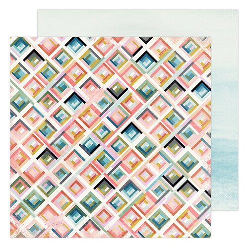 Heidi Swapp - Old School Collection - 12 x 12 Double Sided Paper - City Grid