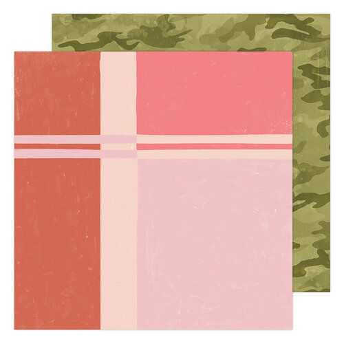 Heidi Swapp - Old School Collection - 12 x 12 Double Sided Paper - Surf Shop