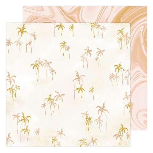 Heidi Swapp - Old School Collection - 12 x 12 Double Sided Paper - Isla Vista