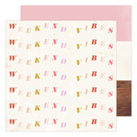 Heidi Swapp - Old School Collection - 12 x 12 Double Sided Paper - Weekend Vibe
