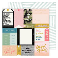 Heidi Swapp - Old School Collection - 12 x 12 Double Sided Paper - Urban Stories