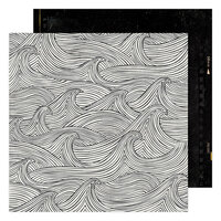 Heidi Swapp - Old School Collection - 12 x 12 Double Sided Paper - Making Waves
