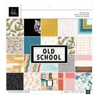 Heidi Swapp - Old School Collection - 12 x 12 Paper Pad