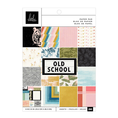Heidi Swapp - Old School Collection - 6 x 8 Paper Pad