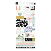 Heidi Swapp - Old School Collection - 6 x 12 Cardstock Stickers with Foil Accents