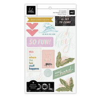Heidi Swapp - Old School Collection - Sticker Book - Clear and Cardstock with Foil Accents