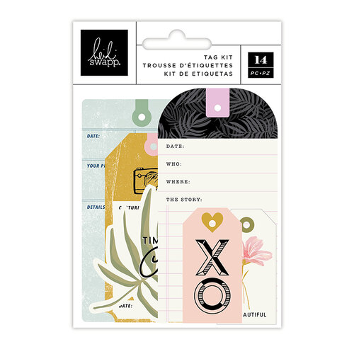 Heidi Swapp - Old School Collection - Tag Set - Cotton Cord