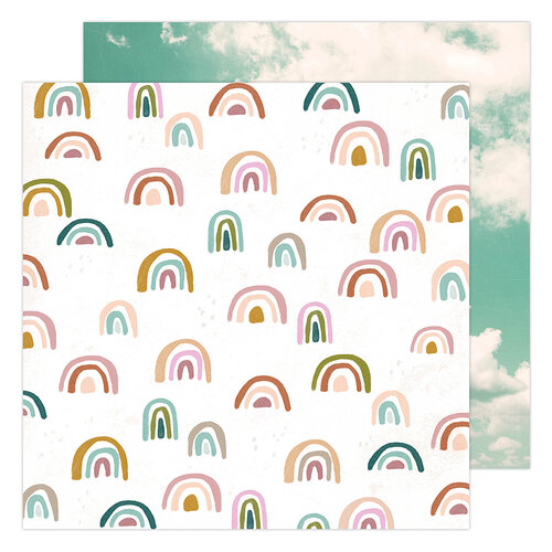 Heidi Swapp - Care Free Collection - 12 x 12 Double Sided Paper - Sunny Skies