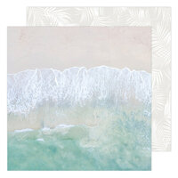 Heidi Swapp - Care Free Collection - 12 x 12 Double Sided Paper - Salty Air