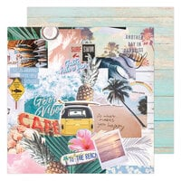 Heidi Swapp - Care Free Collection - 12 x 12 Double Sided Paper - High Tide