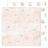 Heidi Swapp - Care Free Collection - 12 x 12 Double Sided Paper - Morning Meadow