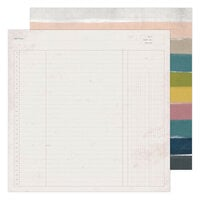 Heidi Swapp - Care Free Collection - 12 x 12 Double Sided Paper - Trail Guide