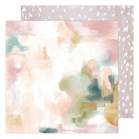 Heidi Swapp - Care Free Collection - 12 x 12 Double Sided Paper - Mirage