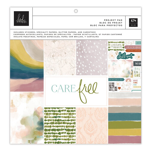 Heidi Swapp - Care Free Collection - 12 x 12 Project Pad