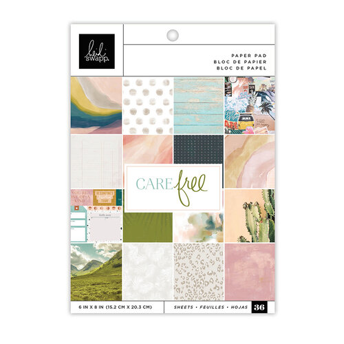 Heidi Swapp - Care Free Collection - 6 x 8 Paper Pad