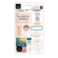 Heidi Swapp - Care Free Collection - Sticker Book - Champagne Foil Accents