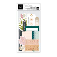 Heidi Swapp - Care Free Collection - Ephemera - Vellum and Champagne Foil Accents
