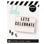 Heidi Swapp - LightBox Collection - Alphabet Inserts - Black Stripe