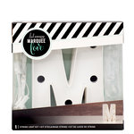 Heidi Swapp - Marquee Love Collection - Marquee Kit - 4 Inches - Letter M