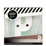 Heidi Swapp - Marquee Love Collection - Marquee Kit - 4 Inches - Letter P