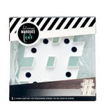 Heidi Swapp - Marquee Love Collection - Marquee Kit - 4 Inches - Hashtag