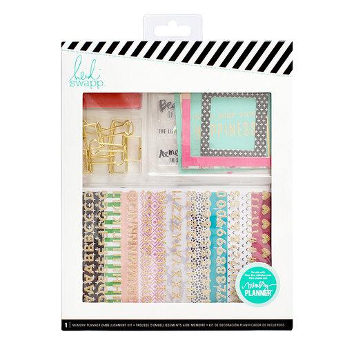 Heidi Swapp - Memory Keeping Collection - Embellishment Kit - Memory Planner