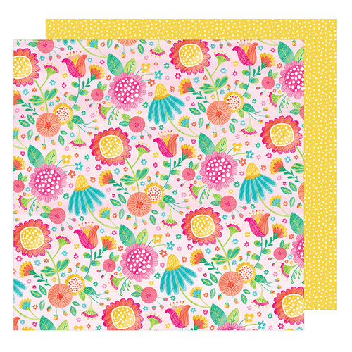 American Crafts - Hello Spring Collection - 12 x 12 Double Sided Paper - Honey Bunny