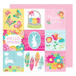 American Crafts - Hello Spring Collection - 12 x 12 Double Sided Paper - Sunny Bunny