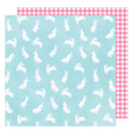 American Crafts - Hello Spring Collection - 12 x 12 Double Sided Paper - Easter Bunny