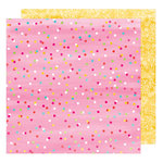 American Crafts - Hello Spring Collection - 12 x 12 Double Sided Paper - Yummy Bunny