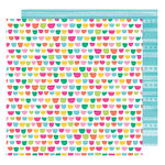 American Crafts - Hello Spring Collection - 12 x 12 Double Sided Paper - Candy Bunny