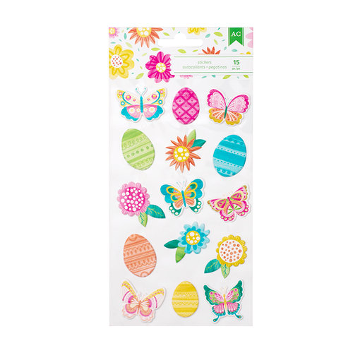 American Crafts - Hello Spring Collection - Puffy Stickers