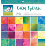 American Crafts - 12 x 12 Paper Pad - Color Splash