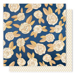 1 Canoe 2 - Creekside Collection - 12 x 12 Double Sided Paper - Midnight Roses
