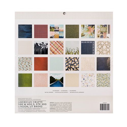 1 Canoe 2 - Creekside Collection - 12 x 12 Paper Pad with Foil Accents