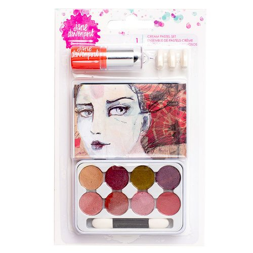 American Crafts - Mixed Media 2 - Cream Pastels Tin - Lip Gloss