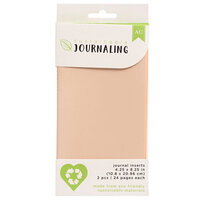 American Crafts - Sustainable Journaling Collection - Journal Inserts - Blush - 2 Pack
