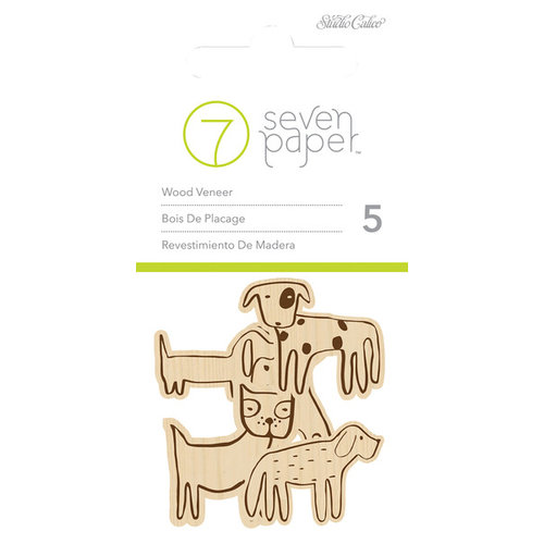 Studio Calico - Seven Paper - Baxter Collection - Wood Veneers Shapes - Dogs