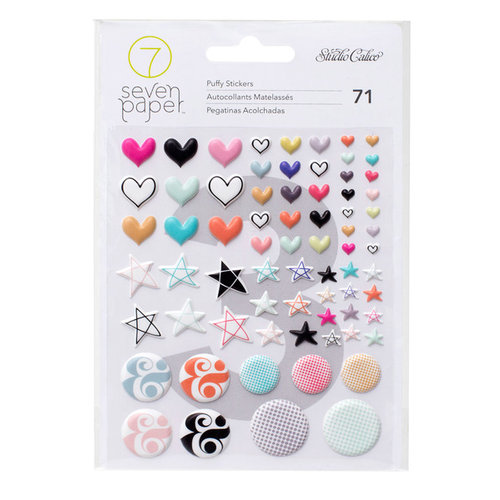 Studio Calico - Seven Paper - Baxter Collection - Puffy Stickers - Shapes
