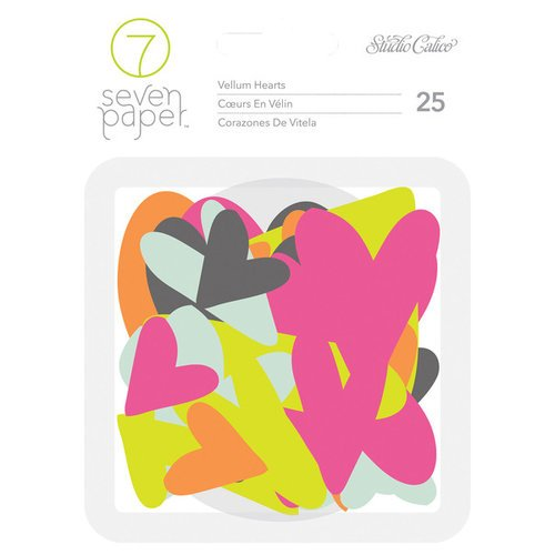Studio Calico - Seven Paper - Baxter Collection - Vellum Hearts