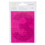 Studio Calico - Seven Paper - Amelia Collection - Cardstock Stickers - Words