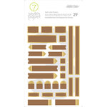 Studio Calico - Seven Paper - Amelia Collection - Kraft Label Stickers with Gold Foil