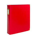 Studio Calico - Seven Paper - Handbook Collection - 9 x 12 D-Ring Album - Faux Leather - Red