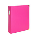 Studio Calico - Seven Paper - Handbook Collection - 9 x 12 D-Ring Album - Faux Leather - Hot Pink